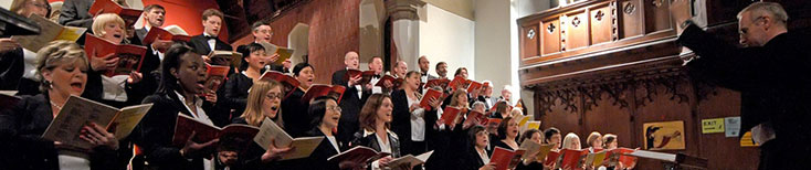 London Docklands Singers performing at Christ Church, Isle of Dogs in East London