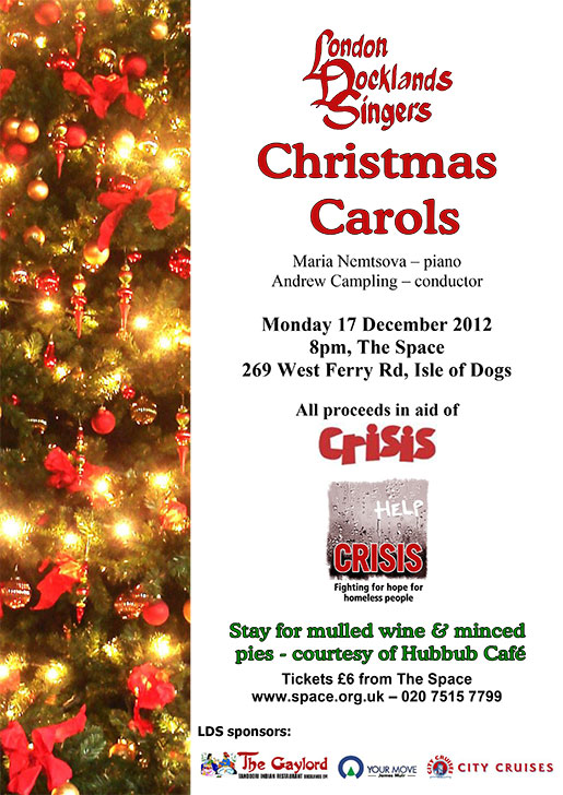 London Docklands Singers : Carol Concert : December 2012