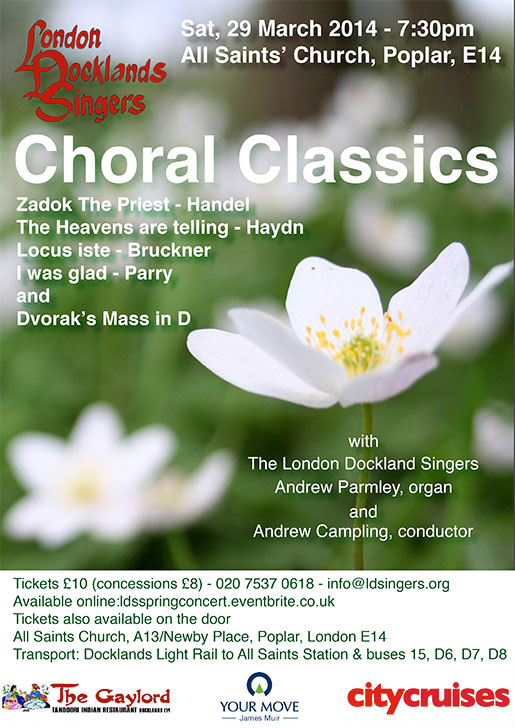 London Docklands Singers : Spring Concert : March 2014